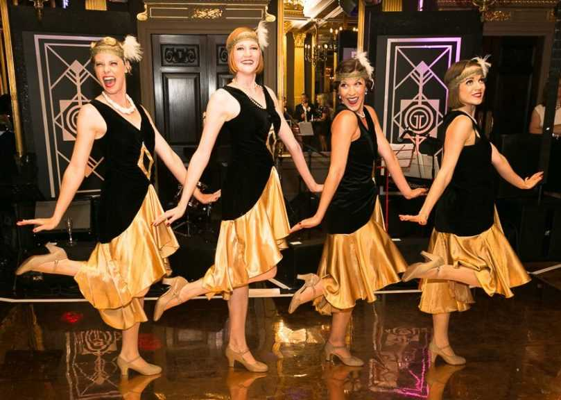 GatsbyGirls Black andGold Flappers 1